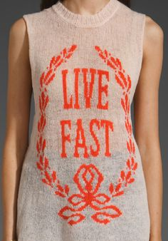 live fast emrboidery art idea... I know it's not embroidery.