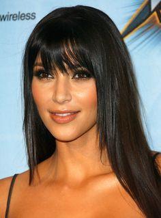 straight hair, kim kardashian, celebrity hairstyles, black hair, long hair, video games, fring, bang, dream hair