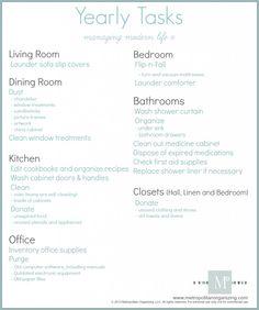 Managing Modern Life | Seasonal chores list