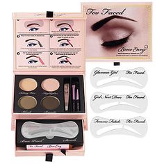 """I get my eyebrows threaded now, but in between visits, I pluck my eyebrows. This kit makes it so much easier. It has stencils and powders to outline the shape you want and pluck the hairs around it. It also comes with a wax to put over your eyebrows so you don't get """"fly aways"""". $35.00."""