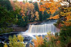 Upper Tahquamenon Falls Autumn in Michigan