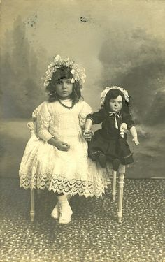 Fancy lady with her doll