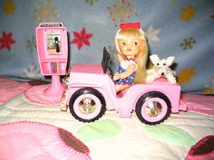 Heidi with her dog pulls up to use phone by daehawktitan, via Flickr