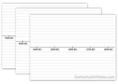 Free PrintableTimeline Notebook Pages {5000 BC - AD 2024} - lined or unlined