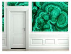 Love this malachite wallpaper!