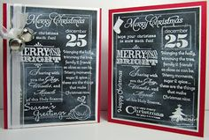 Becky explains how she created these Christmas Chalkboard Cards. What a great technique!