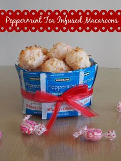 Peppermint Tea Infused Macaroons #AmericasTea #shop