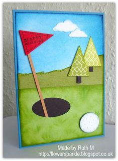 Golf Happy Birthday Card