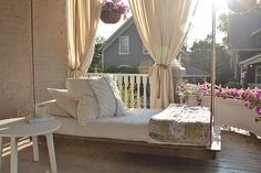 porch swing bed. love this one!