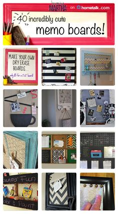 40 fantastic memo boards you should try!