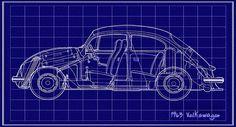 1963 Volkswagon Beetle Blueprint