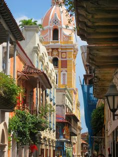 The streets of Cartagena, Colombia.