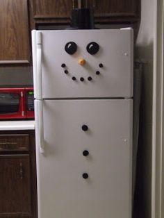 Jean's Crafty Corner: Day 2 of 20 Days of Christmas: Snowman Fridge