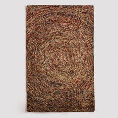 One of my favorite discoveries at WorldMarket.com: Multi-Colored Swirl Wool Rug    I have this one in 8' x 10' and I LOVE IT!