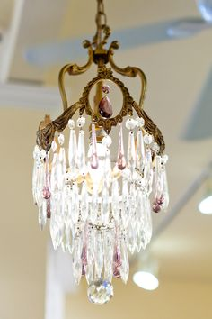 Romantic chandeliers light your way.