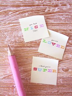 Homemade love notes