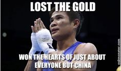 Disappointed that Thailand's Olympic boxer Kaeo Pongprayoon lost to China in light fly weight boxing finals today but proud that he put up such a great fight that everybody else but the judges thought he'd won.