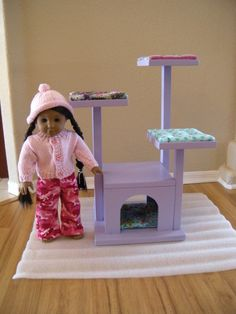 AVAILABLE for JANUARY 2014  Cat Tree  Cat by paynestdollboutique, $90.00