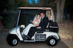 Eldorado Country Club - Bride and Groom  www.eldoradocc.com golf cart, groom wwweldoradocccom, bride