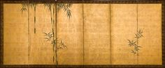 Anonimous  Bamboo  Six fold screen (byobu)