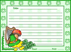 These St. Patrick's Day creative writing worksheets come with a matching 5 page bulletin board display banner.
