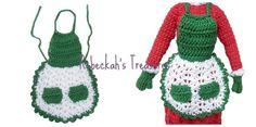 Crochet Mrs. Barbie Claus' Apron Pattern