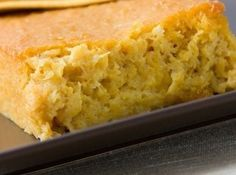 +Amish Sour Cream Corn Bread.  Make in 8x8 pan as a side for your dinner.  Yum!