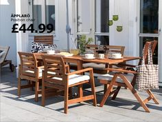 We need a big table like this for our outdoor dinning. :)