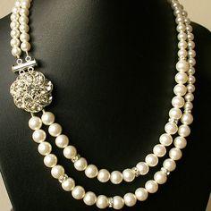 Pearl Bridal Necklace Vintage