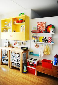 kitchen space - so colourful