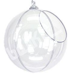 Boule présentoir transparente en 2 parties Ø 29 cm (ouverture Ø 15 cm) - 26 € chez Balkit