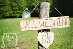 Personalized Engraved Wood Wedding Sign Photo Prop by braggingbags, $45.00