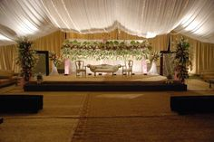 The main center of attraction in Wedding is the seating arrangement of Bride and Groom or the Wedding Stage