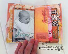 #HeidiSwapp Stencil Magic Mini Album by Jennifer Evans