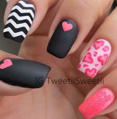 Black pink and white