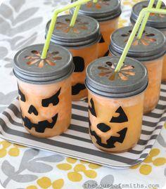 Fizzy Pumpkin Halloween Drinks