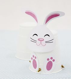 super cute hopping bunny craft with template and instructions