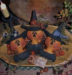 primit halloween, halloween idea, patterns, halloween pumpkins, halloween primit, ebay, holiday idea, pumpkin witch, orni pattern