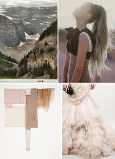 Mountaintop wedding ideas // colors: fawn, mauve and wool