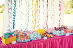 Chevron & Polka Dots Party, such a cute theme and you could do it with any colours!