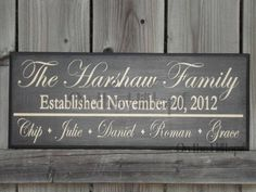 PERSONALIZED Family Sign- Great Gift for that Hard to buy for person sign idea, stuff, famili sign, person famili, families, family signs, personalized silhouette gifts