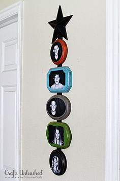 Showcase your favorite family photos with this DIY wood photo plaque wall hanging. Full Tutorial.