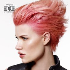 Pink punk short hair