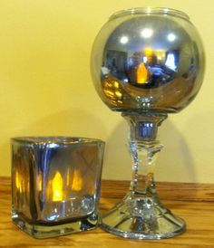 Make your own mercury glass with dollar store glasses