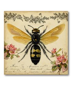≗ The Bee's Reverie ≗ Honey Bee Gallery-Wrapped Canvas bee reveri, galleri canva, bee galleri, bee gallerywrap, honey bees