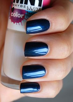 Uñas decoradas color azul, segunda parte con 30 imágenes – Blue Nails uñas azules