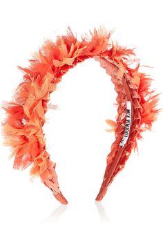 Eugenia Kim Frida sequin-embellished chiffon headband NET-A-PORTER.COM
