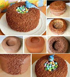 chocolates, cakes, food, easter cake, bird nests