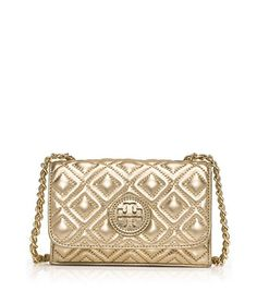 Tory Burch Marion Quilted Metallic Bag