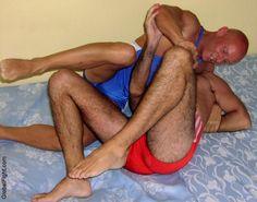 hairy legs wrestlers thighs wrestling men